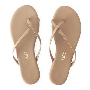 Tkees Riley Vegan Flip Flops in Matte Nude